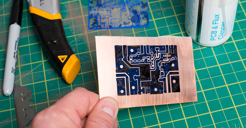 Technique for etching PCB Using Press-n-Peel Film – M0NWK